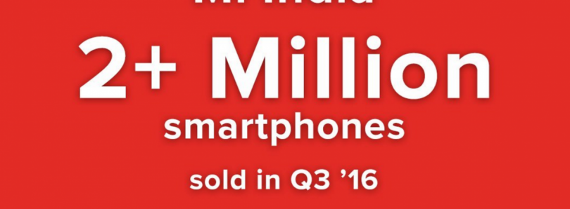 Xiaomi India Sells 2+ Million Smartphones in Q3