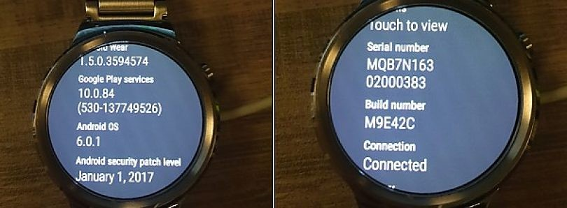 January 2017 Security Update Rolling out to the Huawei Watch