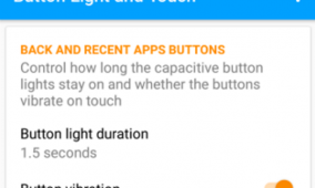 App Customizes the Behavior of the Capacitive Key Backlight on Samsung Devices