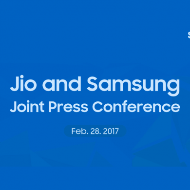 Samsung and Jio Announce Joint Press Conference for MWC 2017