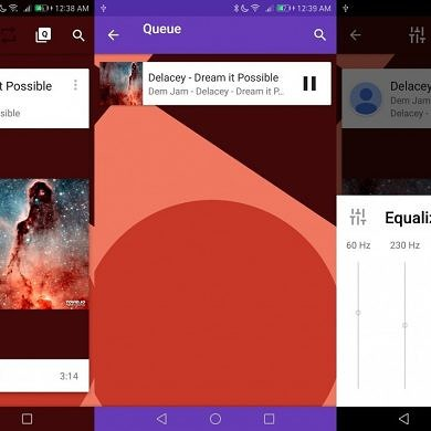 Auracle is a Music Player with Beautiful Animations and Material Design