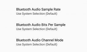 Android O Introduces Bluetooth Audio Codec Options in Developer Options