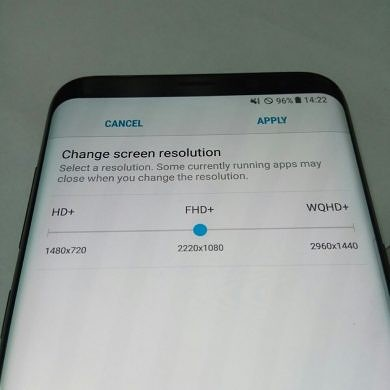 Leaked Image Shows The Galaxy S8's Display Scaling Options