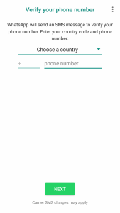 SMS Authentication Whatsapp