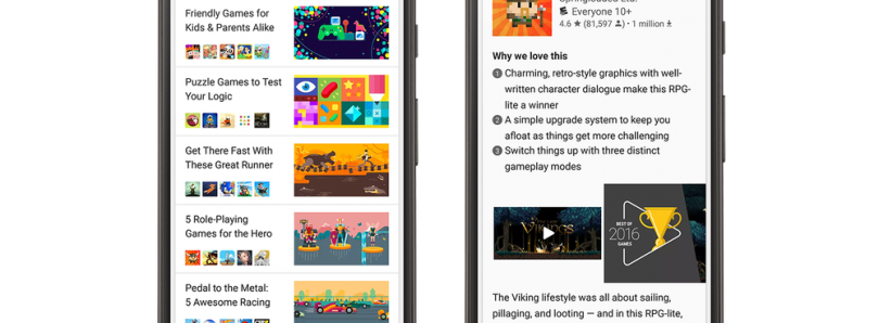 Google Play Store Testing Video and Slideshow Previews for Recommended Apps