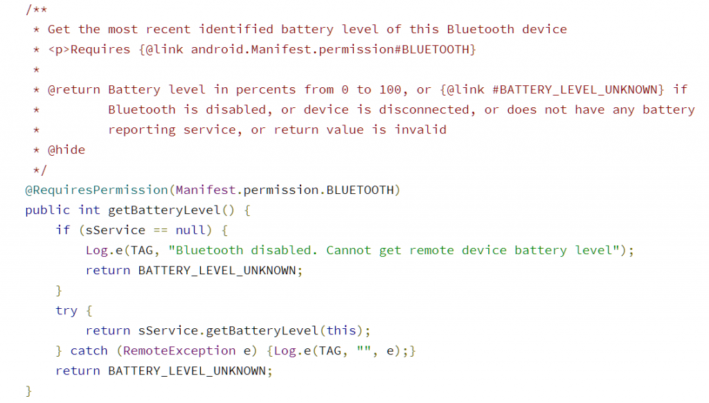 Bluetooth Battery Level Indicator