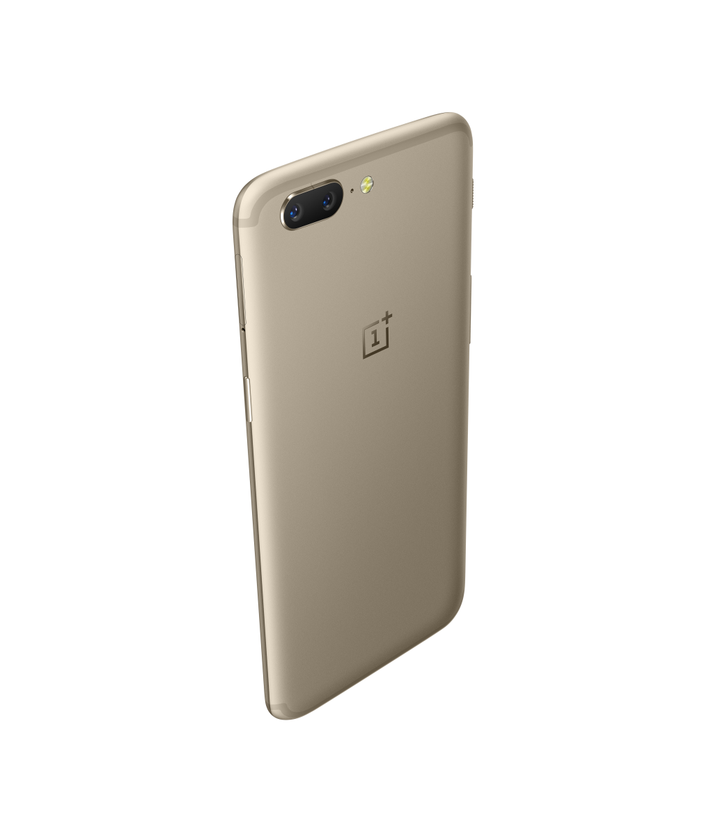 Go for the gold with new OnePlus 5 in Soft Gold color