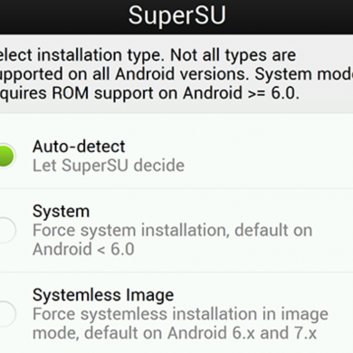SuperSU Config Lets You Change SuperSU's Advanced Flashing Options