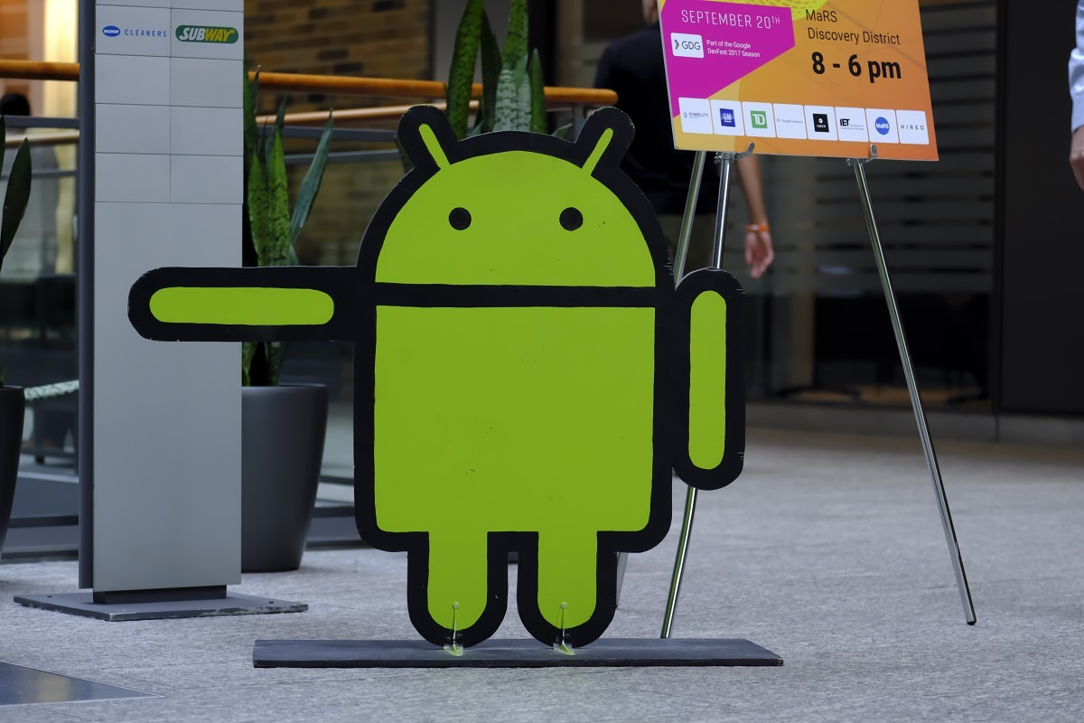 Andy the Bugdroid (Android) at AndroidTO 2017