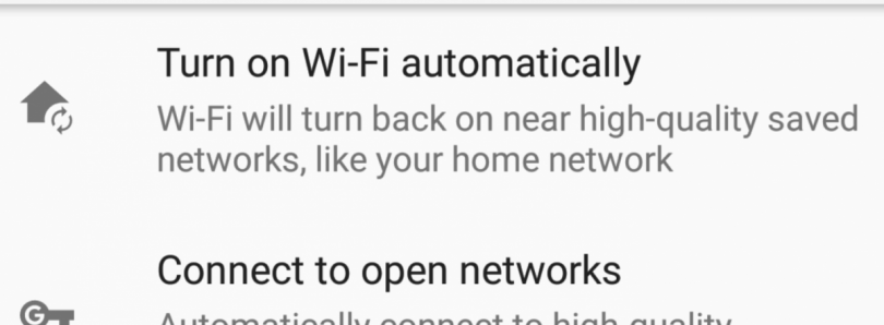 "How to get ""Turn on WiFi Automatically"" for the Nexus 5X/6P on Android Oreo"
