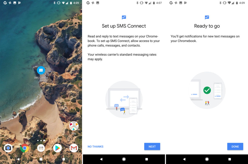 Google Hints at SMS Integration with Chrome OS for Android 8.1
