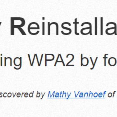 WPA2 WiFi Protocol Vulnerability KRACK Leaves 41% of Android Phones Open to Attack