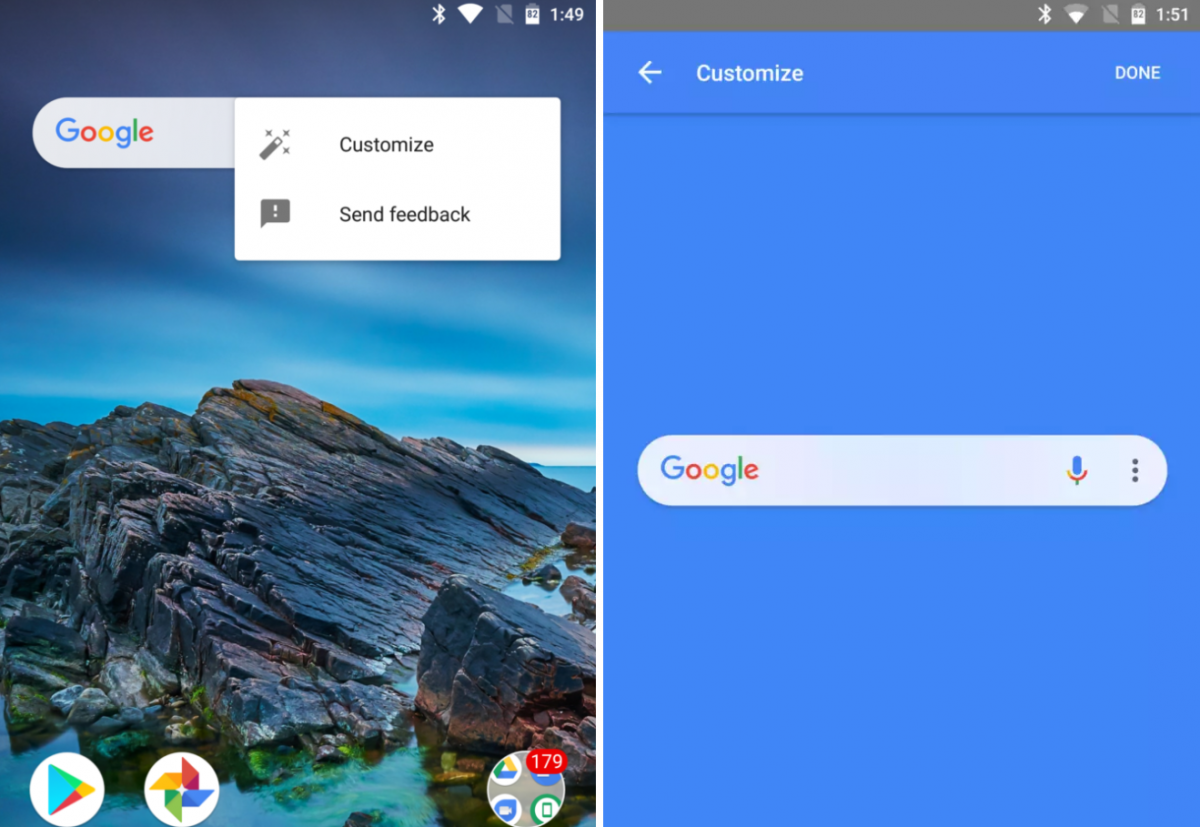 how to get rid of google search bar android