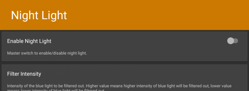 """Night Light"" is an Open Source app using KCAL to adjust Blue Light Intensity"