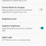 ZTE Axon M Display Settings