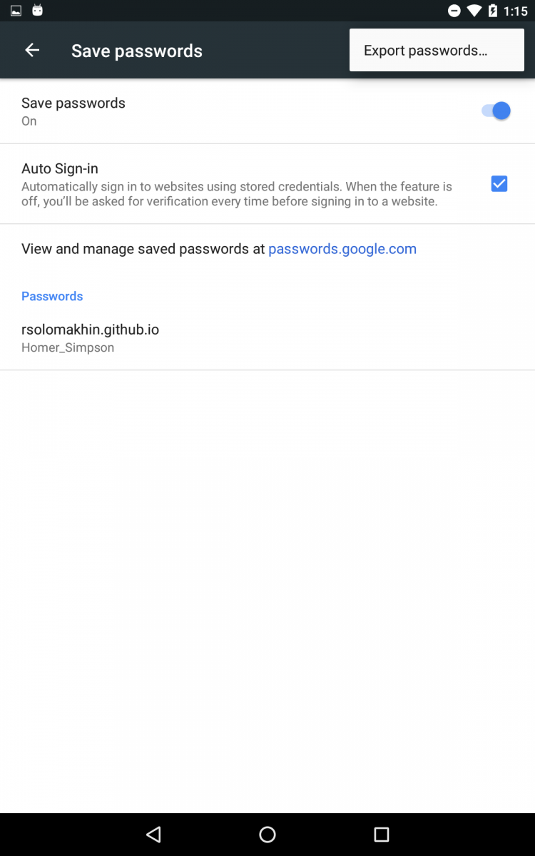 Google Chrome for Android will Soon Support Password Exporting