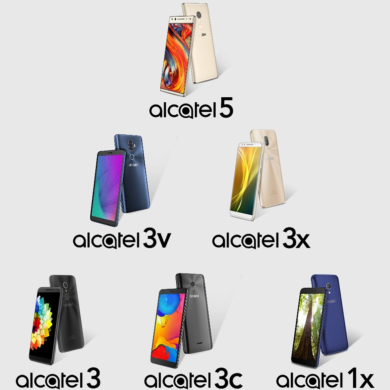 Alcatel 5, Alcatel 3v, and More Revealed in Leaked Renders