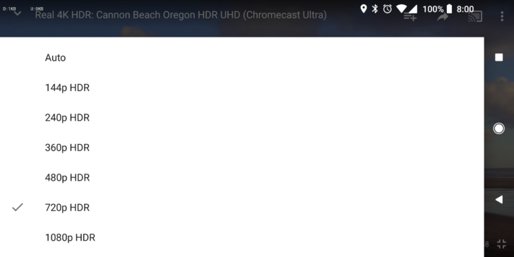 hdr youtube options removed