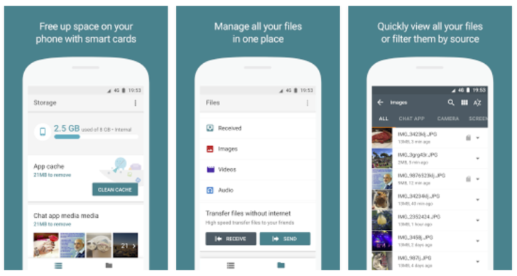 Google readying Android app to manage storage, share files without internet
