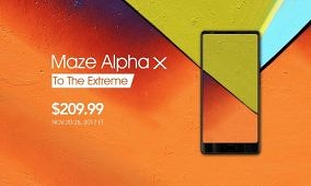 Pre-order the Maze Alpha X – 6″ Fullscreen Phone with 6GB of RAM