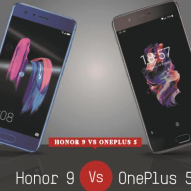 Honor 9 vs. OnePlus 5 Comparison Infographic
