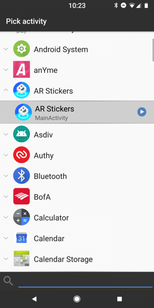 Enable AR Stickers on Nexus 5X or Nexus 6P on Android 8.1