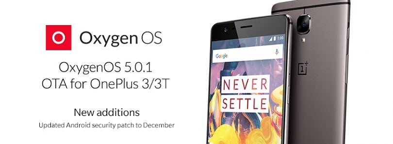 OxygenOS 5.0.1 Adds aptX HD, Adaptive Screen Mode, and December Security Patches for the OnePlus 3/3T