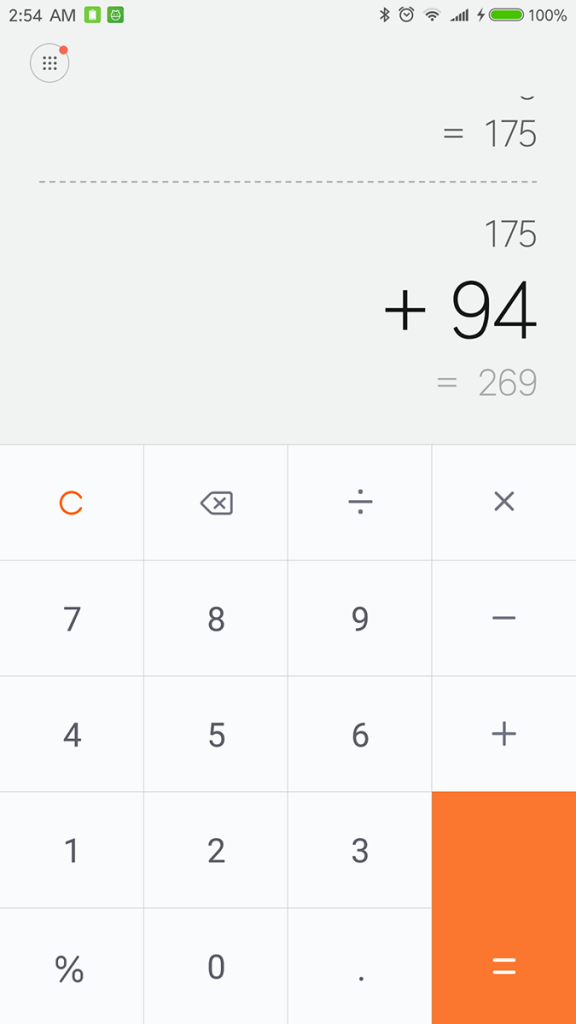 Xiaomi Mi Note 2 Calculator