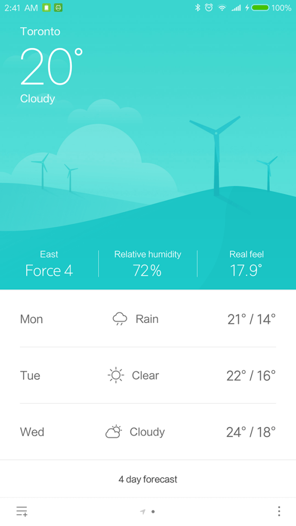 Xiaomi Mi Note 2 Mi Weather