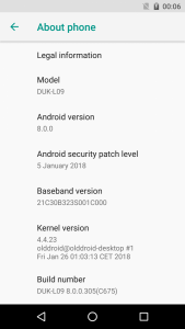 AOSP Android Oreo on the Honor 8 Pro