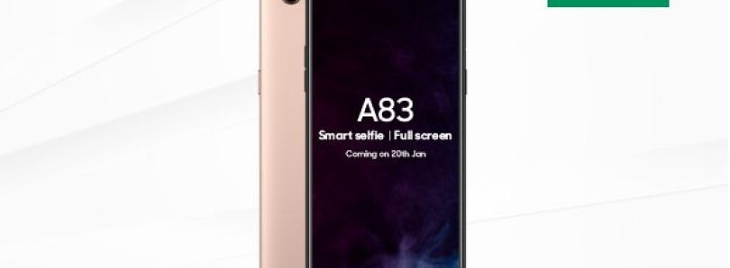 Oppo A83 to be Launched in India on January 20