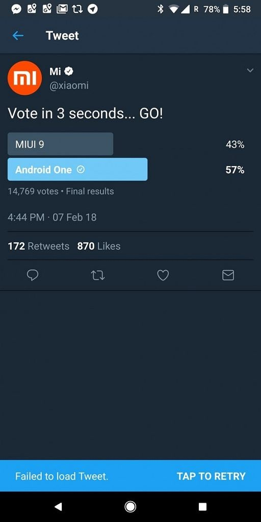 - DVl Q xV4AA16x0 512x1024 - Xiaomi Deletes Twitter Poll when more people prefer Android One over MIUI