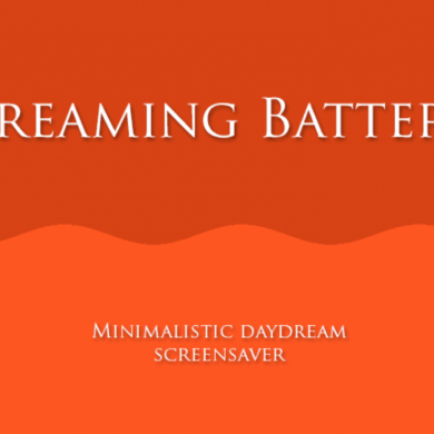 Dreaming Battery is a Minimalist Screensaver for Displaying your Battery Level