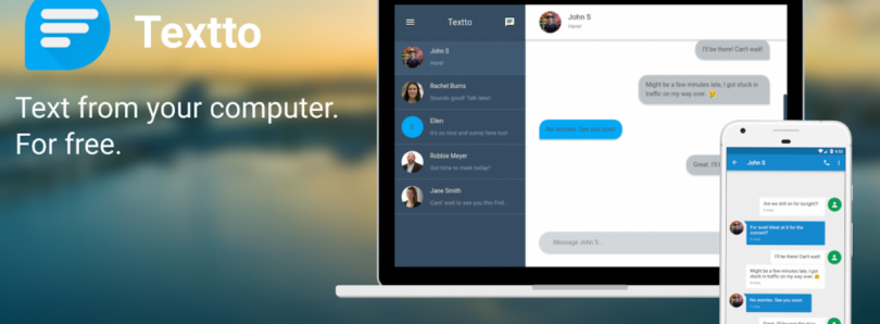 Textto lets you send Text Messages through your PC without changing your SMS app