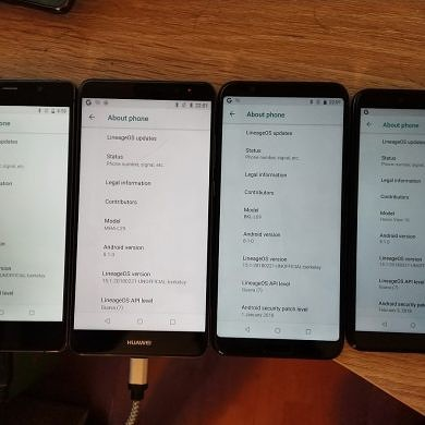 LineageOS 15.1 now available for the Honor View 10, Huawei Mate 10 Pro, and other Project Treble-Compatible Devices