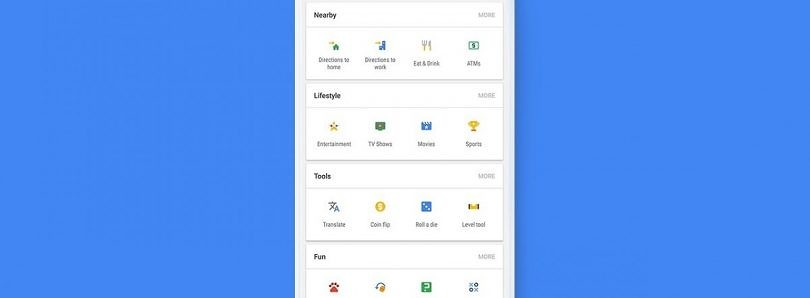 The Google App's Removal of its Useful Shortcuts is Intentional