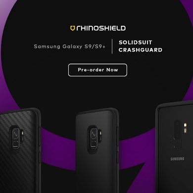 Preorder CrashGuard and SolidSuit cases for Galaxy S9 (20% Off Code)