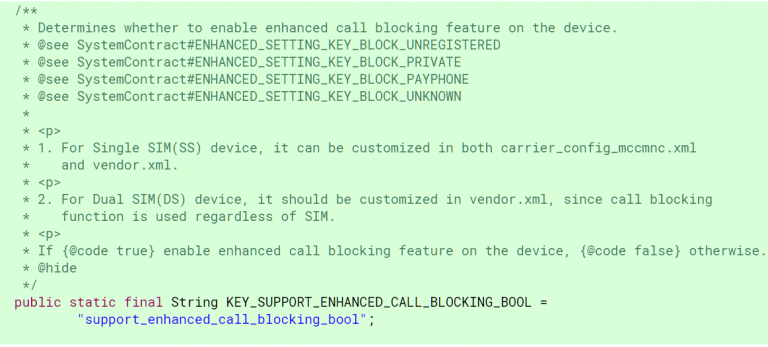 Android-P-Call-Blocking-Carrier-Configuration
