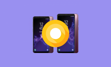 This is the Samsung Galaxy S9 running on AOSP Android Oreo thanks to Project Treble