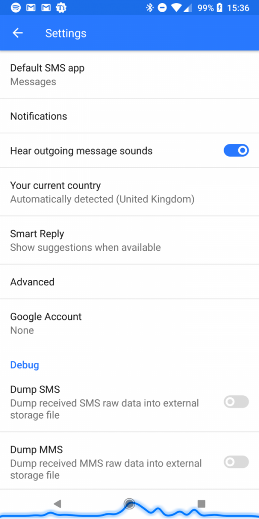 Android Messages Google Account Linking