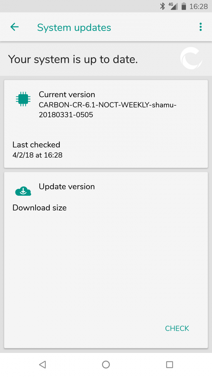 XDA: CarbonROM based on Android Oreo now available for a