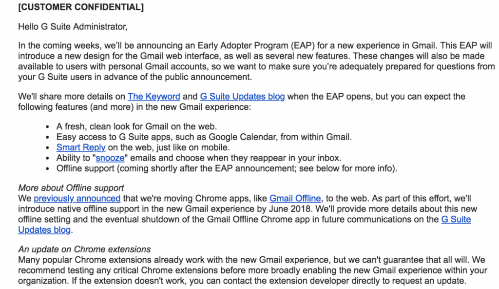 Google is readying up a new UI design for Gmail