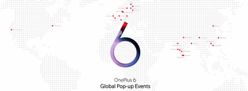 OnePlus 6 pop-up events will appear in Europe, North America, and India