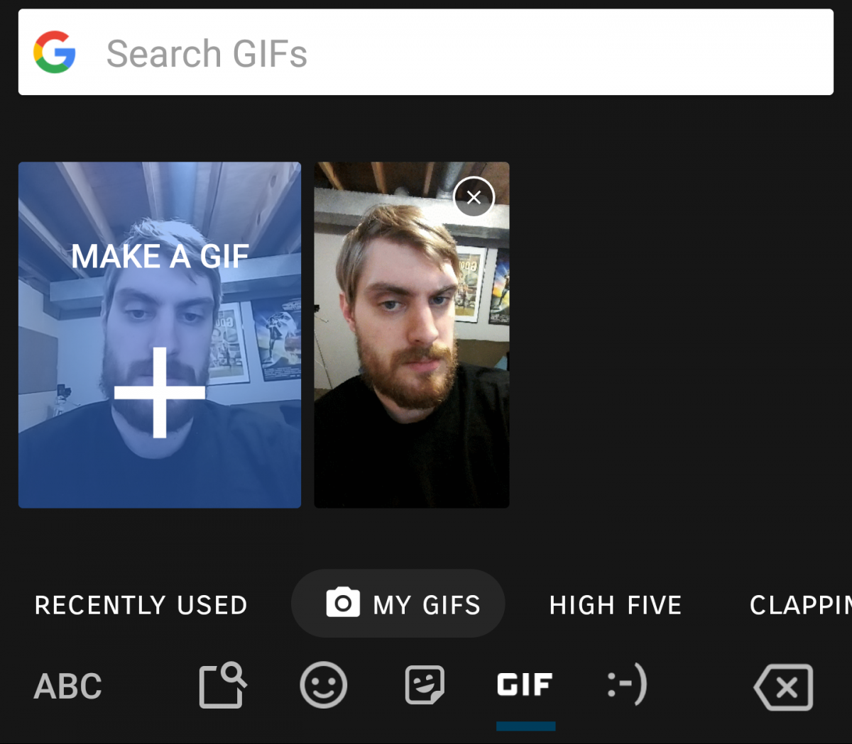 You can now create your own GIF using Google Gboard