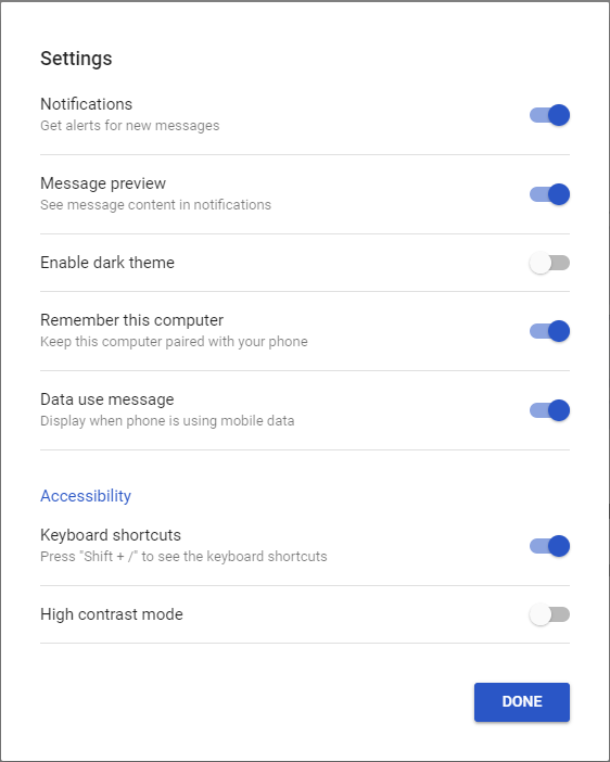 Android Messages gets an anywhere web view
