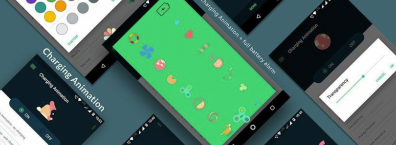 Battery Charging Animation shows custom animations while your Android device charges
