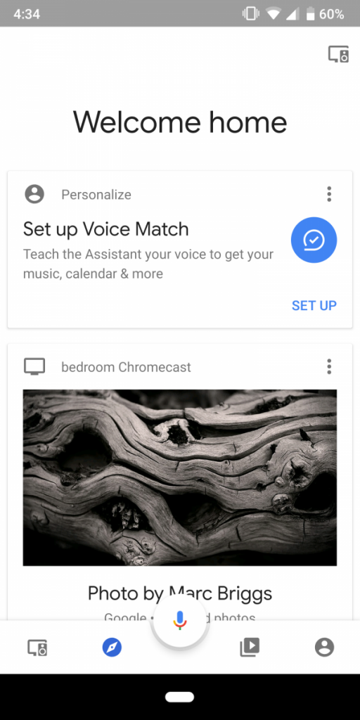 Google Home Material Theme redesign