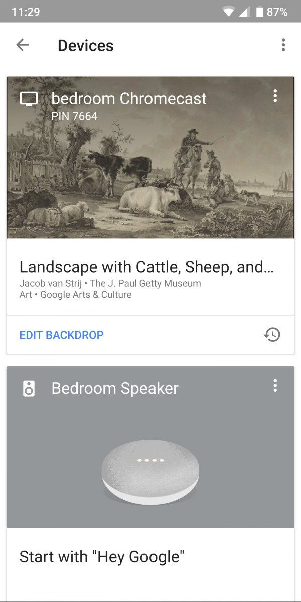 xda android google home app testing a redesign with google s material theme. Black Bedroom Furniture Sets. Home Design Ideas