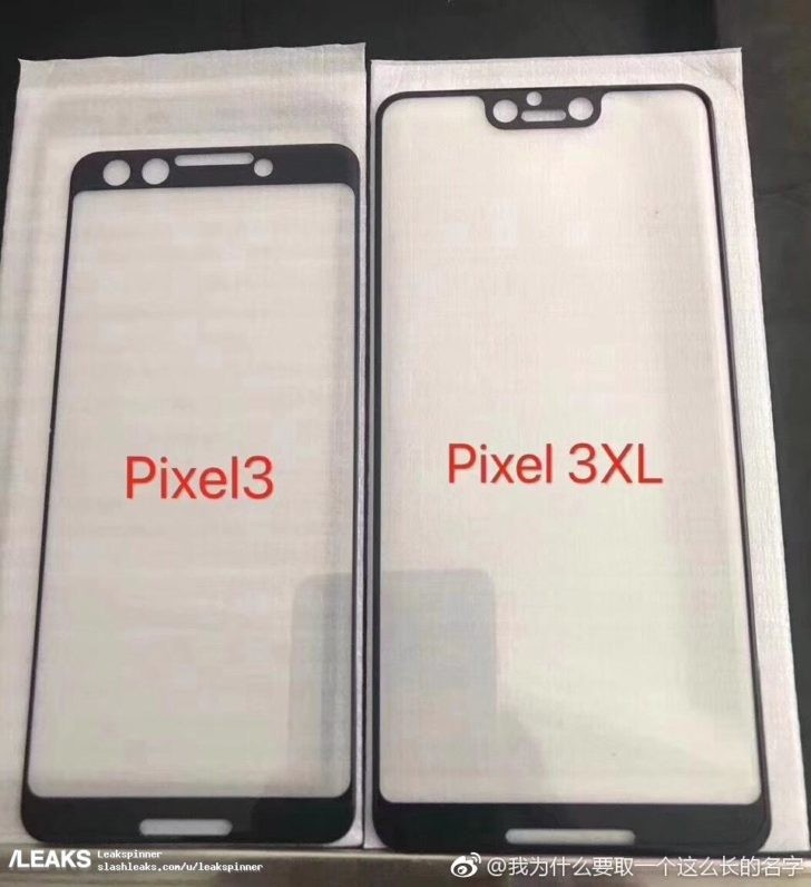 First Google Pixel 3 XL photo leak clearly shows a notch