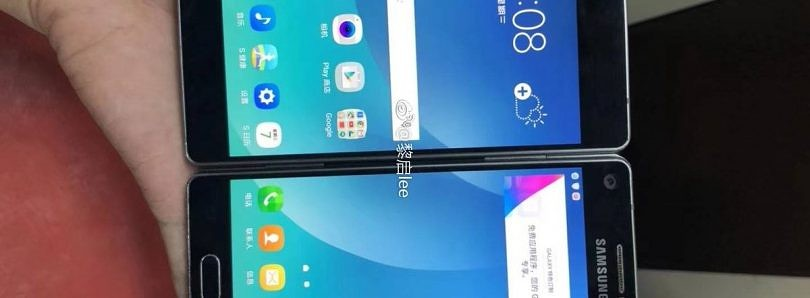 Cancelled Samsung Galaxy foldable phone prototype resembling the ZTE Axon M appears online